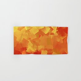 Cubism in orange Hand & Bath Towel