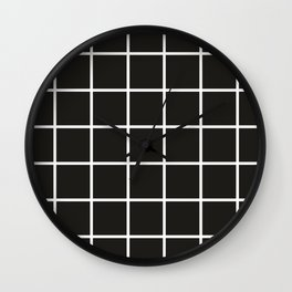 Simple black and white grid | Wall Clock