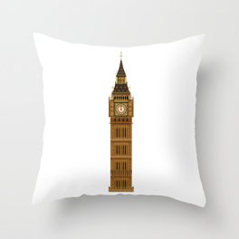Big Ben Isolated Throw Pillow