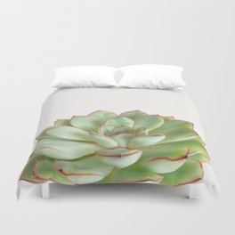 Green Succulent Duvet Cover
