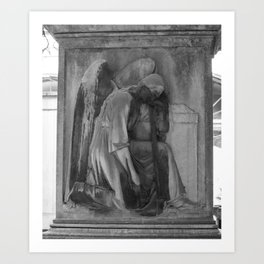 ancient angel Art Print