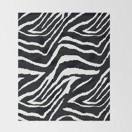 ZEBRA ANIMAL PRINT BLACK AND WHITE PATTERN Throw Blanket