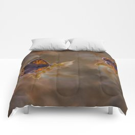 Small Copper butterfly Comforters