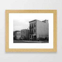 Brooklyn Houses 2001 BW Framed Art Print