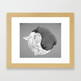 """""""Sometimes you eat the bear and sometimes... Framed Art Print"""