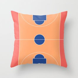Basketball Court l Aerial Illustration  Throw Pillow