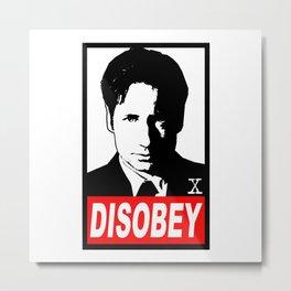 Disobey Mulder Metal Print