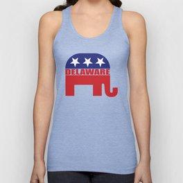 Delaware Republican Elephant Unisex Tank Top