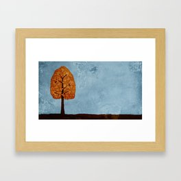 Autumn Grunge Framed Art Print