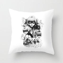 Hit-Girl Throw Pillow