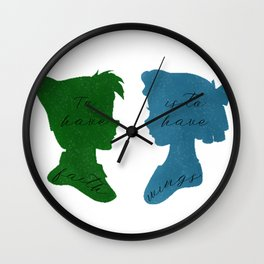 Faith Gives You Wings Wall Clock