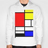 mondrian Hoodies featuring Mondrian by  Can Encin