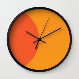 Orange Rising Wall Clock