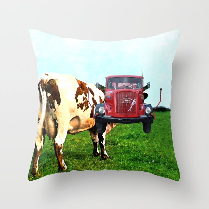 Red Floyd Throw Pillow