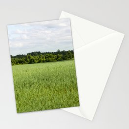 agricultural field of oat Stationery Cards