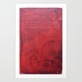 Antique Book Cover * Book Lovers * Literacy Art * Anderson's Fairy Tales * Red * Black Art Print