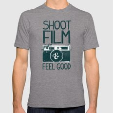 Shoot Film Mens Fitted Tee LARGE Tri-Grey