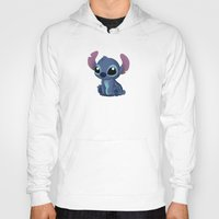 chibi Hoodies featuring Chibi Stitch by Katie Simpson a.k.a. Redhead-K