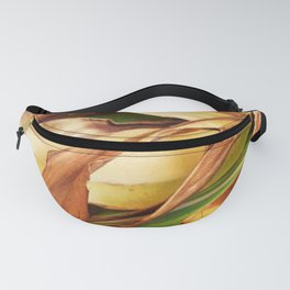 Leaves on the ground. brown, yellow, nature, decor, art, Society6. Fanny Pack