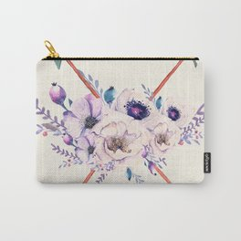 Floral Arrows Carry-All Pouch