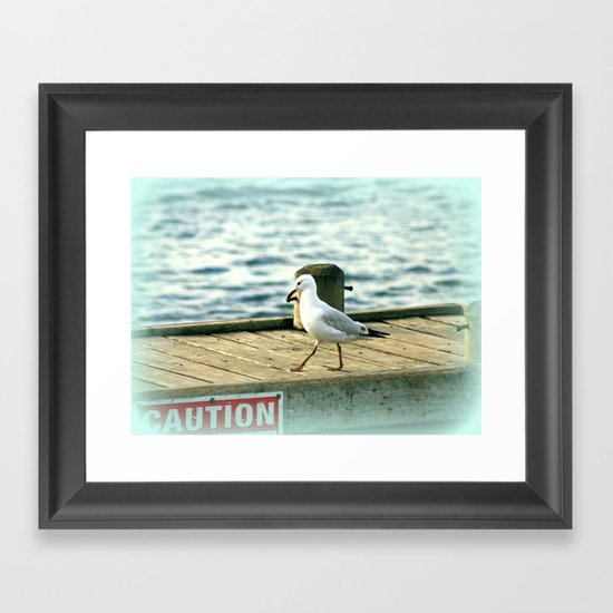 Tri-Angular Beak Framed Art Print
