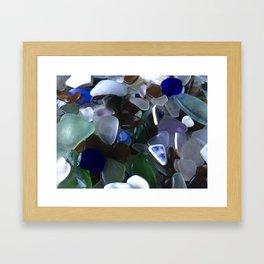 Sea Glass Assortment 4 Framed Art Print
