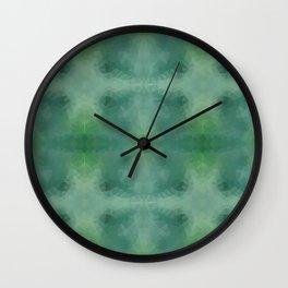 Kaleidoscopic design in green colors Wall Clock