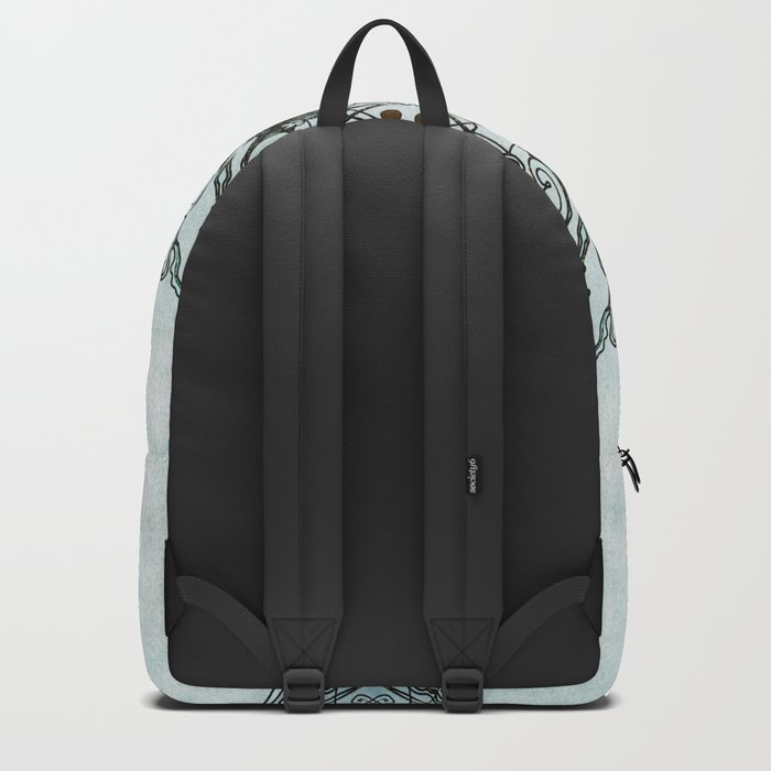 Abstract flower Backpack