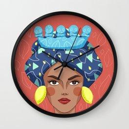 Sicilian Woman - Testa Di Moro Lemon Wall Clock