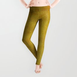 """Gold & Ocher Burlap Texture"" Leggings"