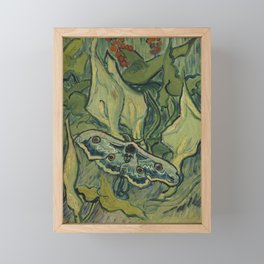 "Vincent Van Gogh ""Emperor Moth (The giant peacock moth)"" Framed Mini Art Print"