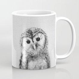 Baby Owl - Black & White Coffee Mug