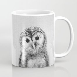 Baby Owl - Black & White Coffee Mug