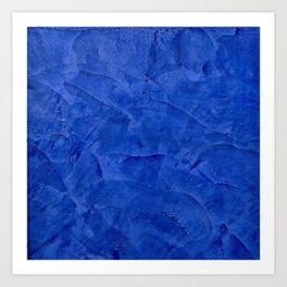 Dark Classic Blue Ombre Burnished Stucco - Faux Finishes - Venetian Plaster - Corbin Henry Art Print