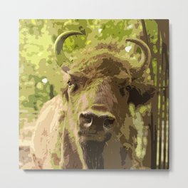 Bull #decor #buyart #society6 Metal Print