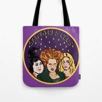 hocus pocus Tote Bags featuring HOCUS POCUS SAD GIRLS CLUB by Cat Core