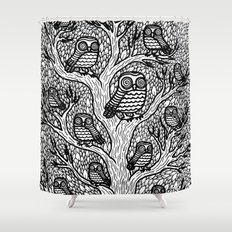 The Hypnowl Council Shower Curtain
