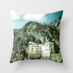 Majestic Predjama Castle Throw Pillow