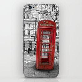 Red Phone box, London iPhone Skin