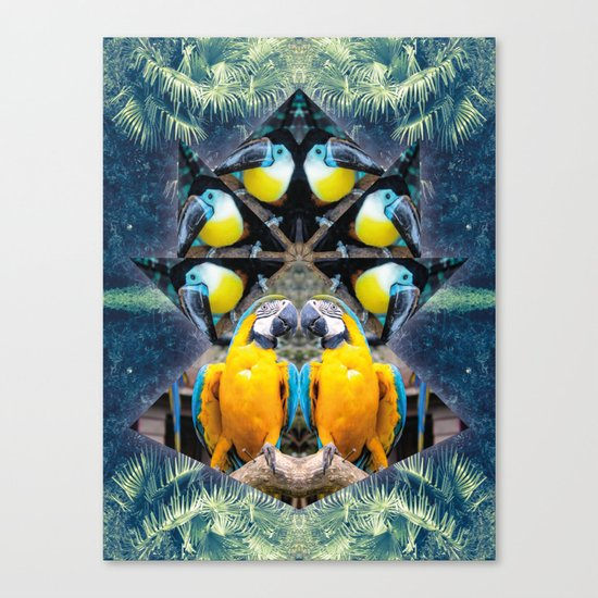 Rainbow Jungle Canvas Print