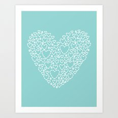Heart Blue Art Print