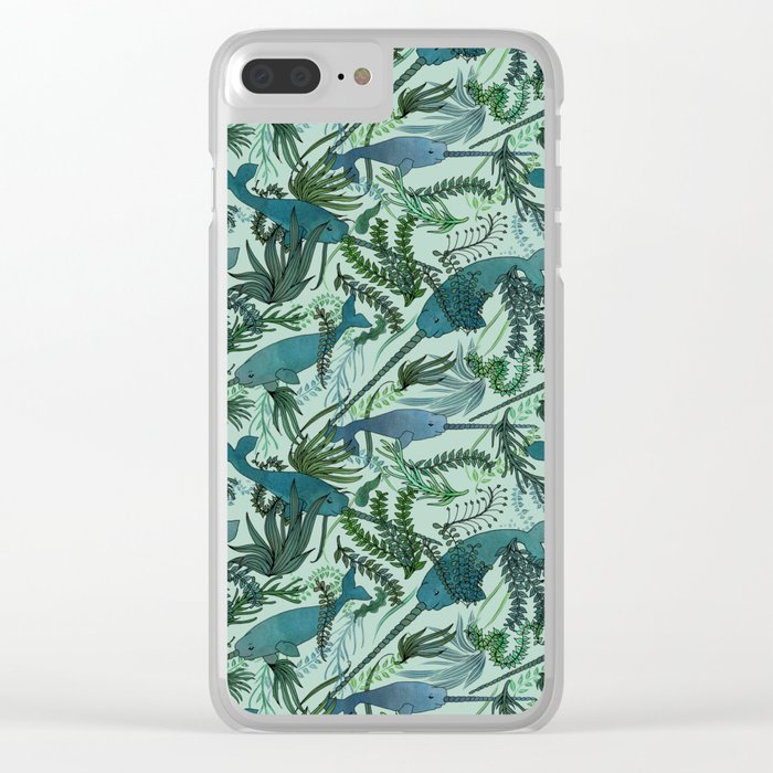 Narwhals Clear iPhone Case
