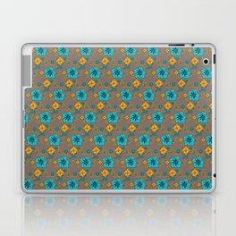 Funky Yellow & Blue Flowers Laptop & iPad Skin