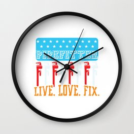 Water Supply Pipelifter Drainage Sink Faucet Fix T-shirt Design Plumbing Drain Fix Tool Home Wall Clock