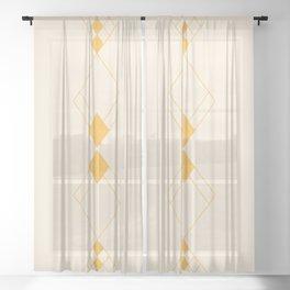 Minimal Geometry - Golden Sheer Curtain