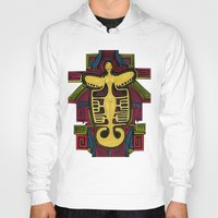 colombia Hoodies featuring Colombia Art  by Adriana Mateus