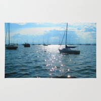 sailing Area & Throw Rugs featuring Sailing by Rene Robinson