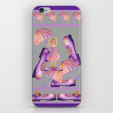 THE CLOWNY BALLERINA Gray iPhone & iPod Skin