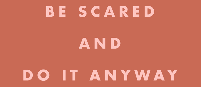 Inspirational Bravery Quote in Terra Cotta Coffee Mug