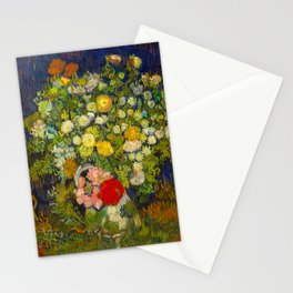 Bouquet of Flowers in a Vase Vincent van Gogh Oil on canvas 1890 Stationery Cards